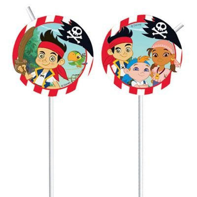 Jake & Neverland Pirates Drinking Straws