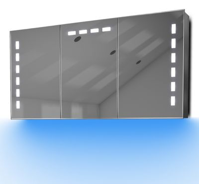 Demist Cabinet With LED Under Lighting, Sensor & Internal Shaver Socket k379b