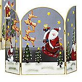 63cm Santa and Sleigh Christmas Fireguard