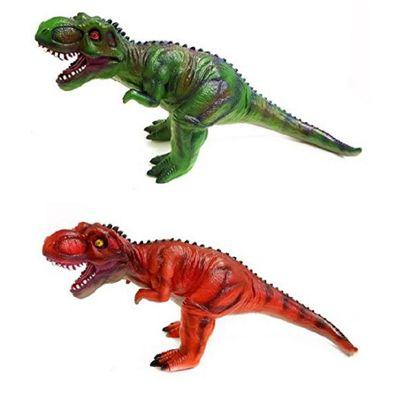 Large 50cm Long Rubbery Flexible Plastic T-Rex Dinosaur Toy - Assorted Colours