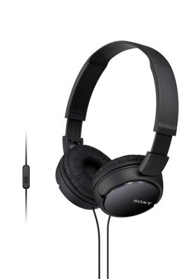 MDR-ZX110AP Overhead Headphones with Mic - Black - Sony