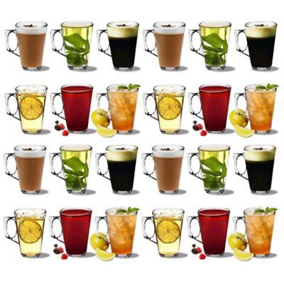 Latte Coffee Glasses - 250ml (8.8oz) - Gift Box of 24