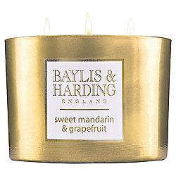 Baylis & Harding Christmas Mandarin Scented 3 Wick Candle