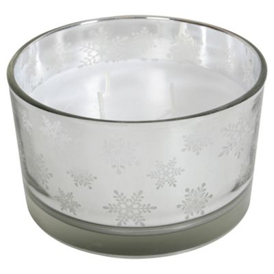 Snowflake Design Multi Wick Candle