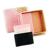W7 Double Act Face Powder Bronzer / Blusher With Brush