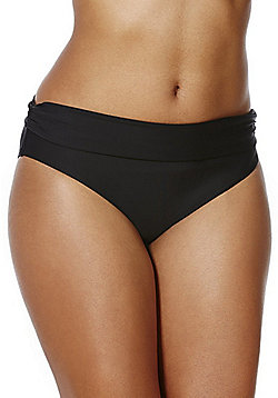 F&F Shaping Swimwear Fold-Over Bikini Briefs - Black