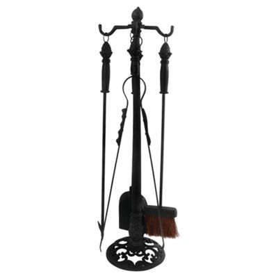 Fallen Fruits 4 Piece Cast Iron Fireplace Tool Set With Stand