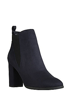 F&F Sensitive Sole Faux Suede Chelsea Boots - Navy