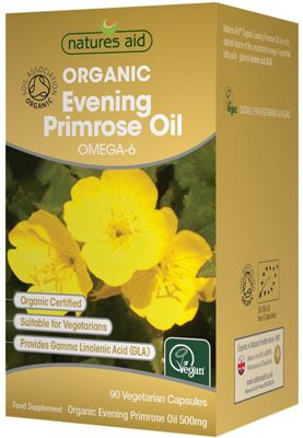 Natures Aid Organic Evening Primrose Oil 500mg - 90 Capsules