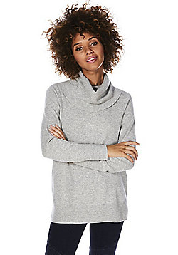 F&F Cowl Neck Cashmere Jumper - Grey