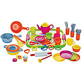 Gowi Toys Dinner Service (Pink - 52 Piece Set)