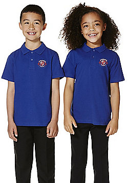 Unisex Embroidered School Polo Shirt - Royal blue