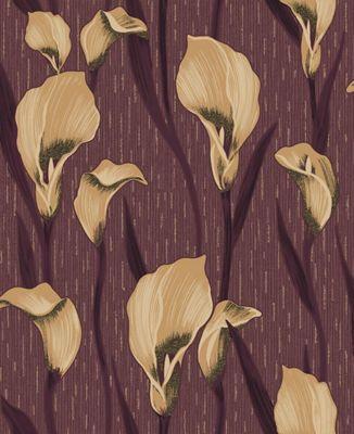 Crown Cala Lily Damson Wallpaper