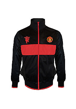 Manchester United FC Boys Track Jacket - Black