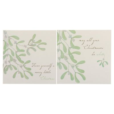 Tesco Mistletoe Christmas Cards, 12 Pack