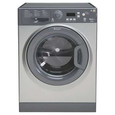 Hotpoint WMYF842G Washing Machine, 8kg Load, 1400 RPM Spin, A++ Energy Rating, Graphite
