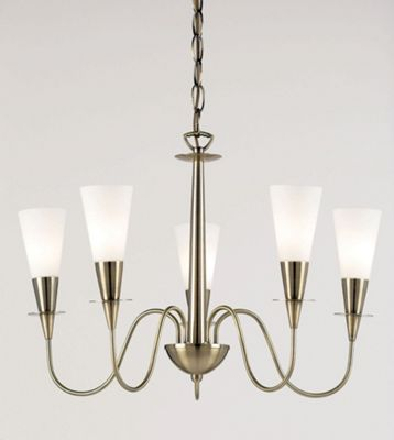 Endon Lighting Five Chandelier in Classic Antique