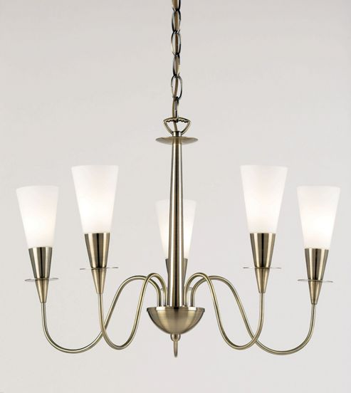 Endon Lighting Five Chandelier in Classic Antique