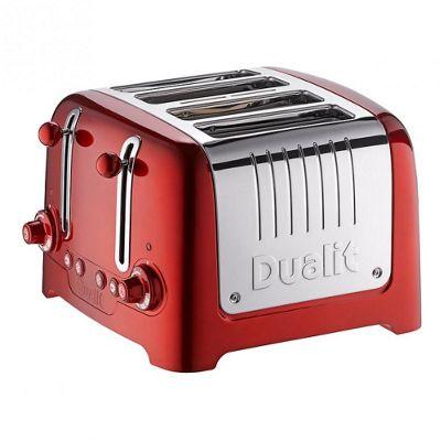 Dualit 4 Slot Lite Metallic Red Peek N Pop Toaster