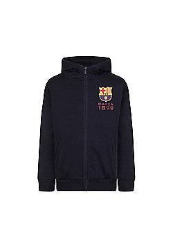 FC Barcelona Boys Zip Hoody - Navy blue