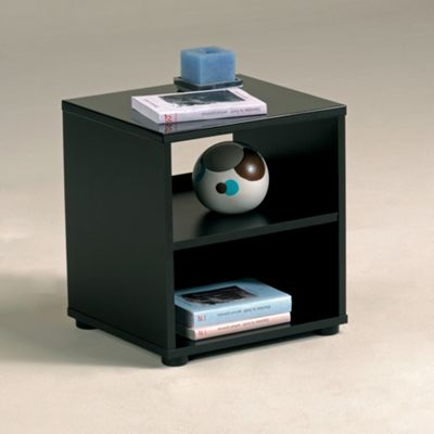 Parisot Trendy Bedside Table - Black Lacquered