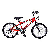 "Ammaco Performer 18"" Wheel Boys Bike 6 Speed Red"