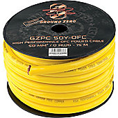 Ground Zero 0AWG Yellow OFC Power Cable Spool 15M