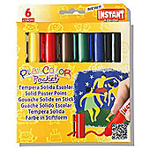 Playcolor Basic Pocket 5g Solid Poster Paint Stick (Pack of 6 - Assorted Colours)