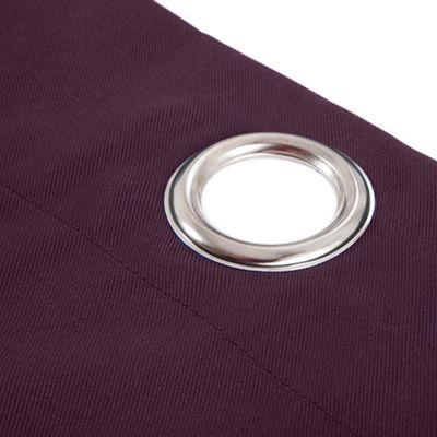 Gardenista Purple Single Outdoor Curtain with Eyelet Panel 55