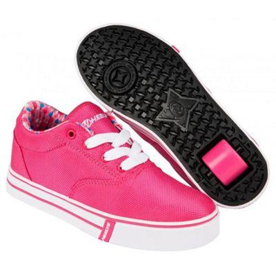 Launch Fuchsia/Printed Lining Kids Heely Shoe UK 6