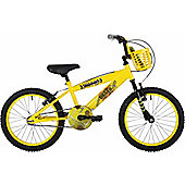"Bumper Digger 18"" Wheel Kids Pavement Bike Yellow"