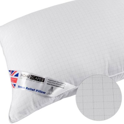Homescapes Anti Stress Pillow Super Microfibre Extra Fill, 48 x 74 cm