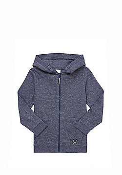 F&F Marl Zip-Through Hoodie with As New Technology - Navy