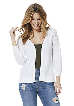 F&F Open Front Cardigan - White