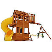Selwood Abbey Climbing Frame With Swings, Slide & Crows Nest