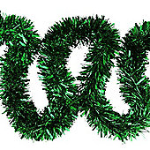 6m Green Chunky Cut 10cm Christmas Tree Tinsel