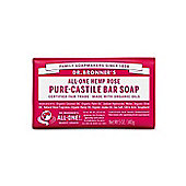 Dr Bronners Organic Rose Soap Bar 140g