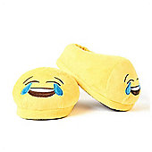 Crying with Laughter emoji Foot Cushion Slippers (Large UK 9 - 11)