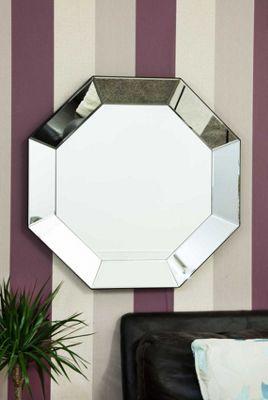 Modern Silver Round Venetian Wall Mounted Mirror 3Ft, (90cm)