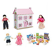 Le Toy Van Sophies Dolls House with Starter Furniture Set and My Family of 4 Dolls