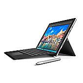 """Microsoft Surface Pro 4 Intel Core i5 4GB RAM 128GB 12.3"""" Win 10 Tablet & Black Keyboard Cover Bundle """