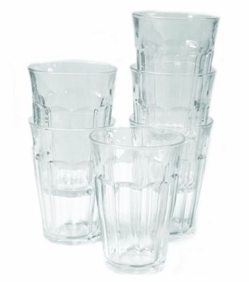 Duralex Picardie Glass Tumblers 360ml, Clear, Set of 6 1029AB06