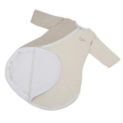 Purflo Jersey Cotton/Bamboo lining Baby Sleepsac 2.5 TOG 9-18 mths Mushroom Spot/Stripe