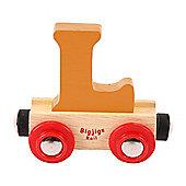 Bigjigs Rail Rail Name Letter L (Orange)