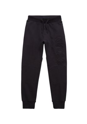 F&F Textured NYC Joggers Black 7-8 years