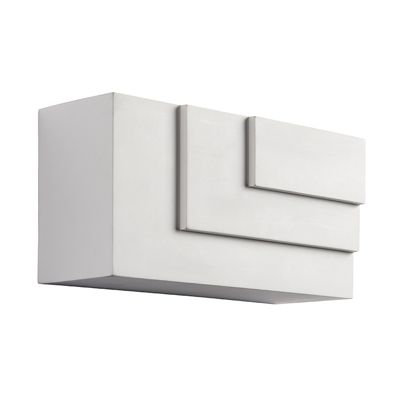 Ripple Cube 1 Light 3W Warm White Light White Plaster Wall Light