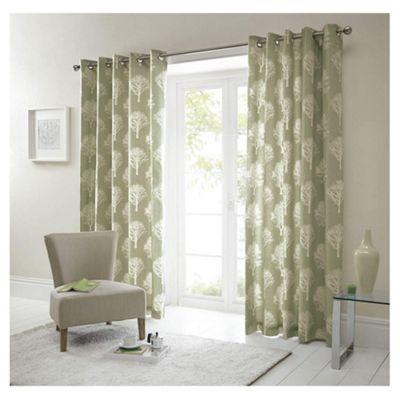 Woodland Eyelet Curtains W229xL229cm (90x90