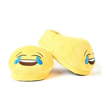 Crying with Laughter emoji Foot Cushion Slippers (Medium UK 5 - 8)