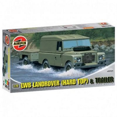 LWB Landrover (Hard Top) & Trailer (A02324) 1:76