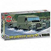 LWB Landrover (Hard Top) & Trailer (A02324) 1:76